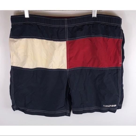 4e1d9a59d0 Tommy Hilfiger Swim | Vintage Flag Logo Trunks Large | Poshmark